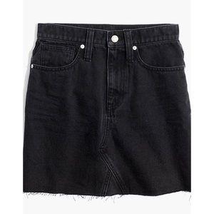 Madewell LunarWash Denim Frisco Raw Hem Mini Skirt